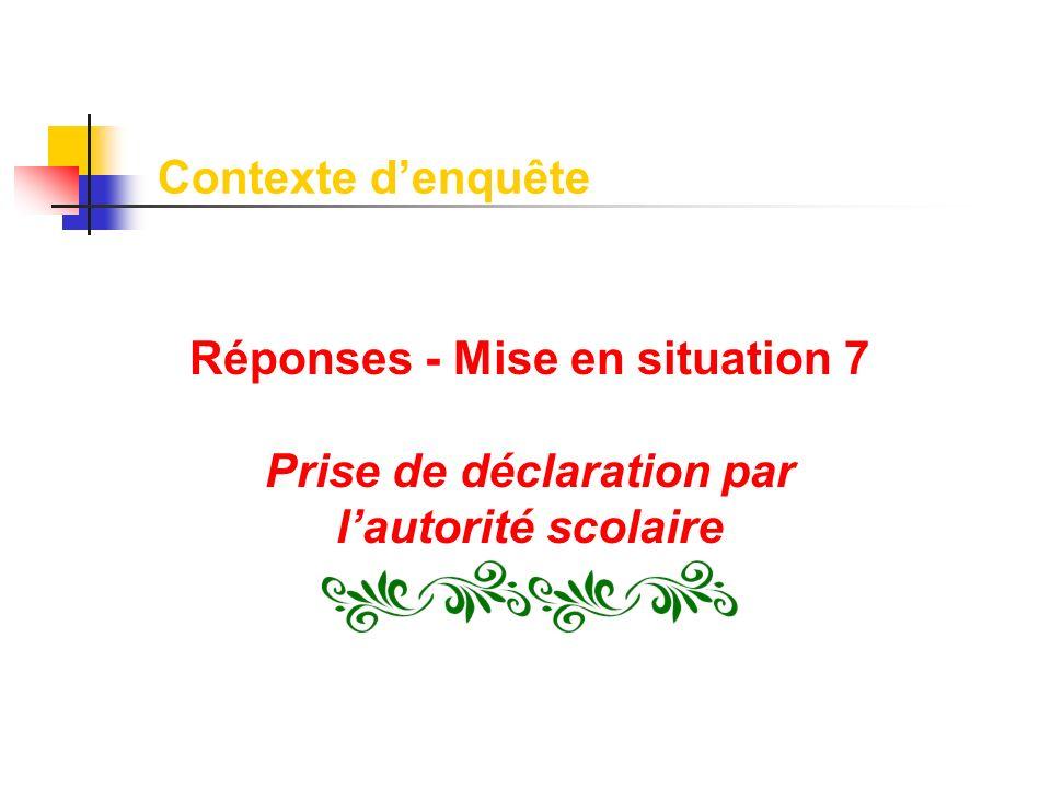 Réponses - Mise en situation 7