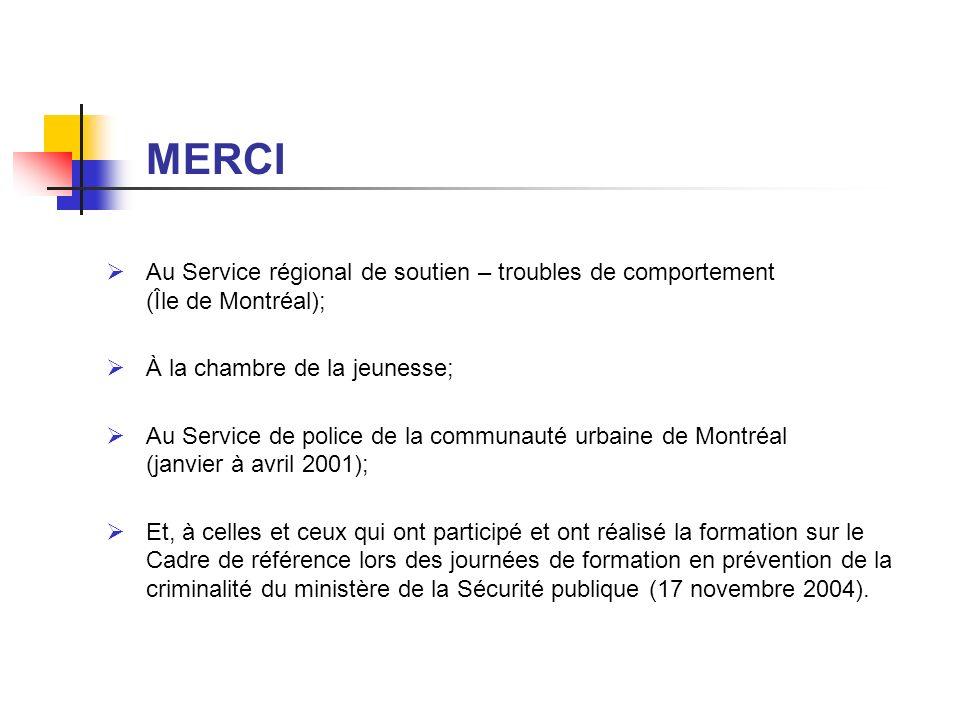 MERCI Au Service régional de soutien – troubles de comportement (Île de Montréal);