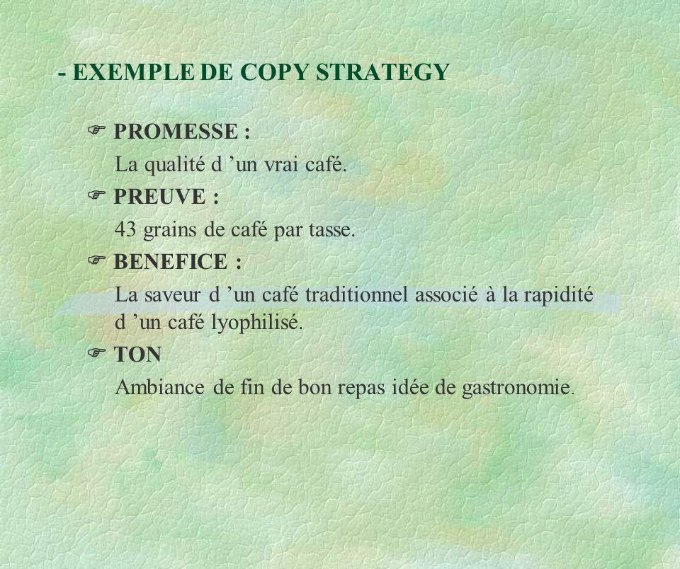 - EXEMPLE DE COPY STRATEGY