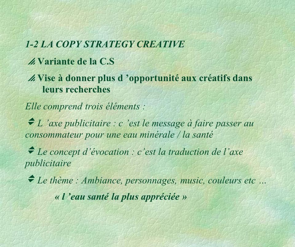 1-2 LA COPY STRATEGY CREATIVE  Variante de la C