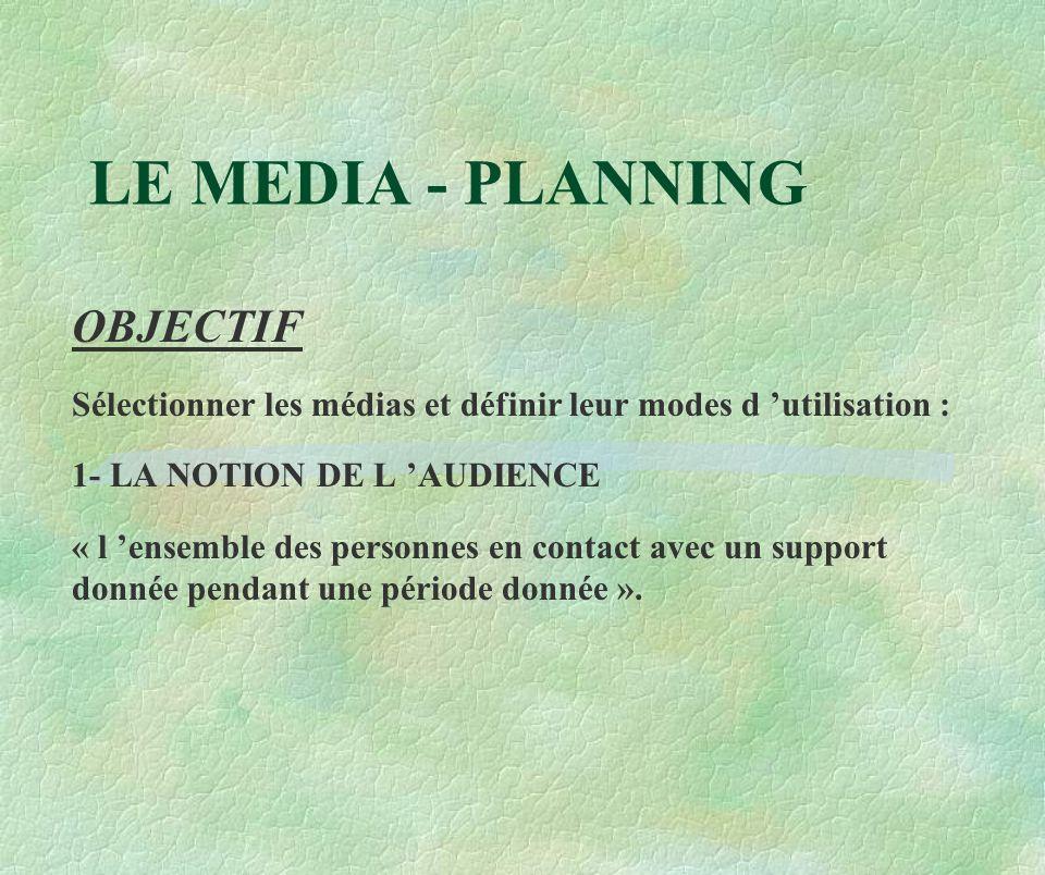 LE MEDIA - PLANNING OBJECTIF
