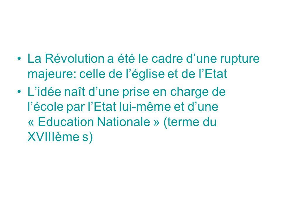 La Révolution a été le cadre d'une rupture majeure: celle de l'église et de l'Etat