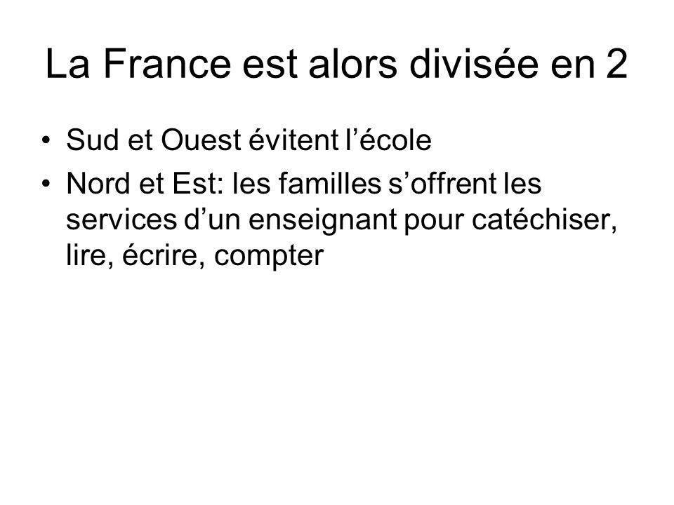 La France est alors divisée en 2
