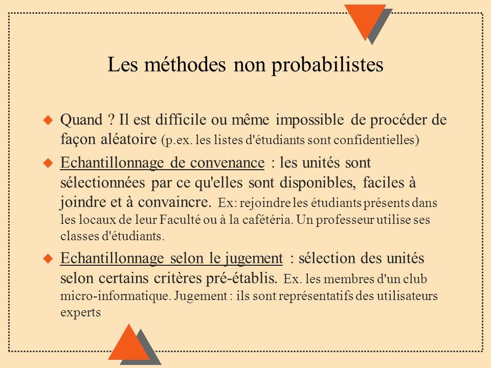 Les méthodes non probabilistes