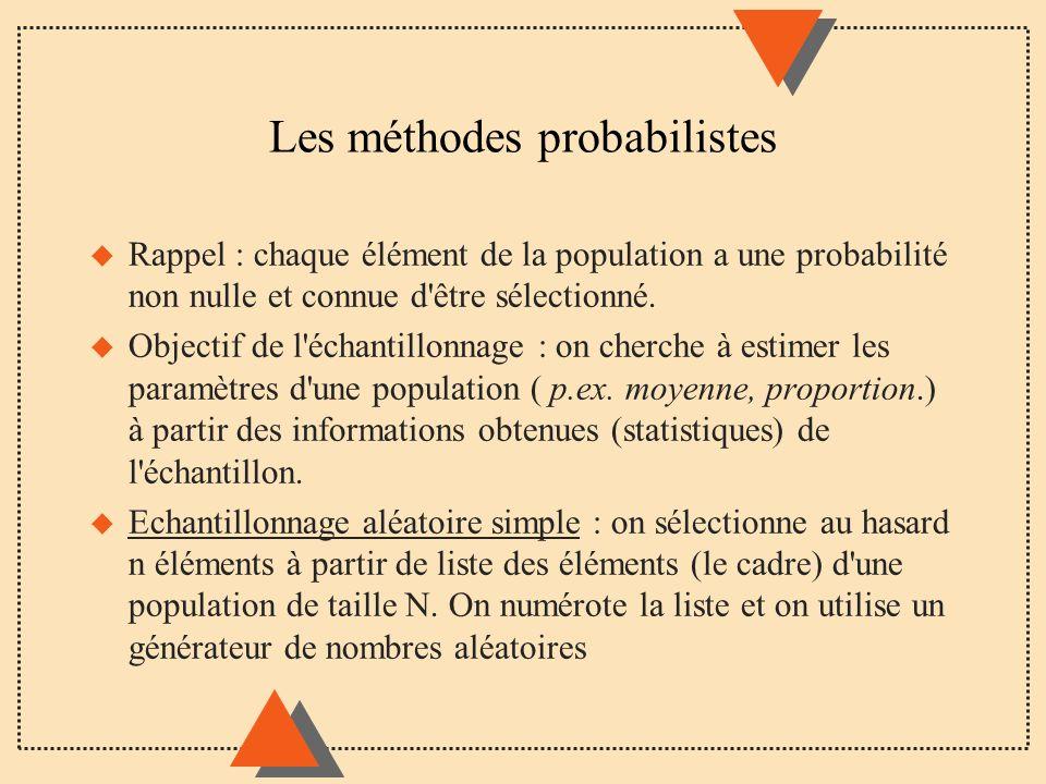 Les méthodes probabilistes