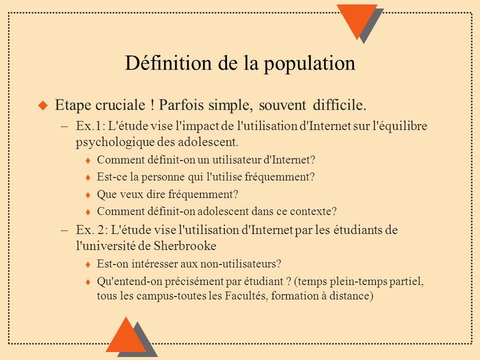 Définition de la population