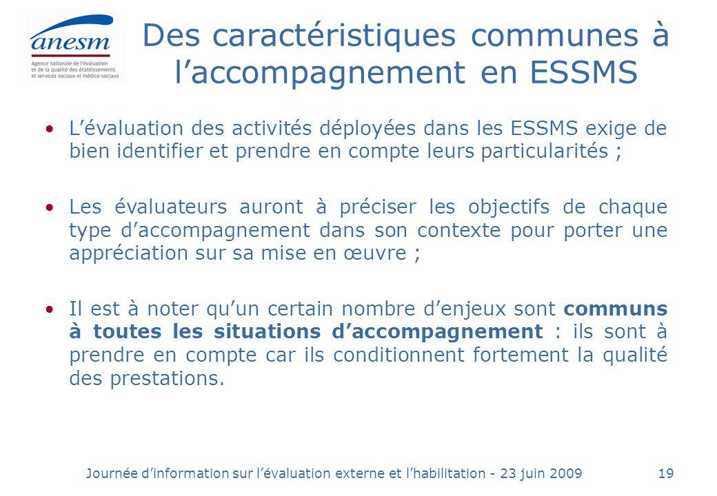 Des caractéristiques communes à l'accompagnement en ESSMS