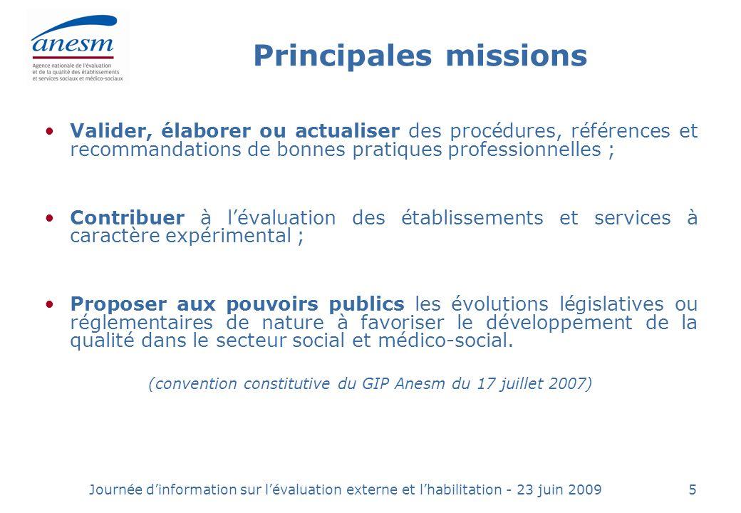 (convention constitutive du GIP Anesm du 17 juillet 2007)