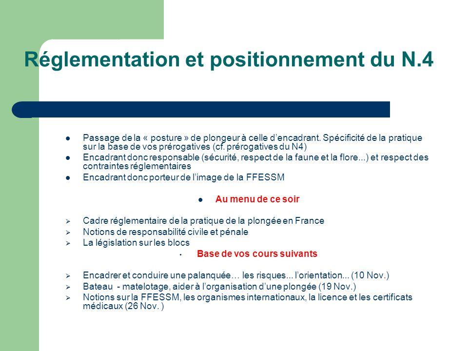 Réglementation et positionnement du N.4