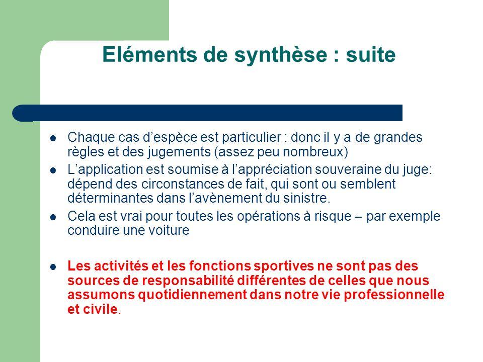 Eléments de synthèse : suite