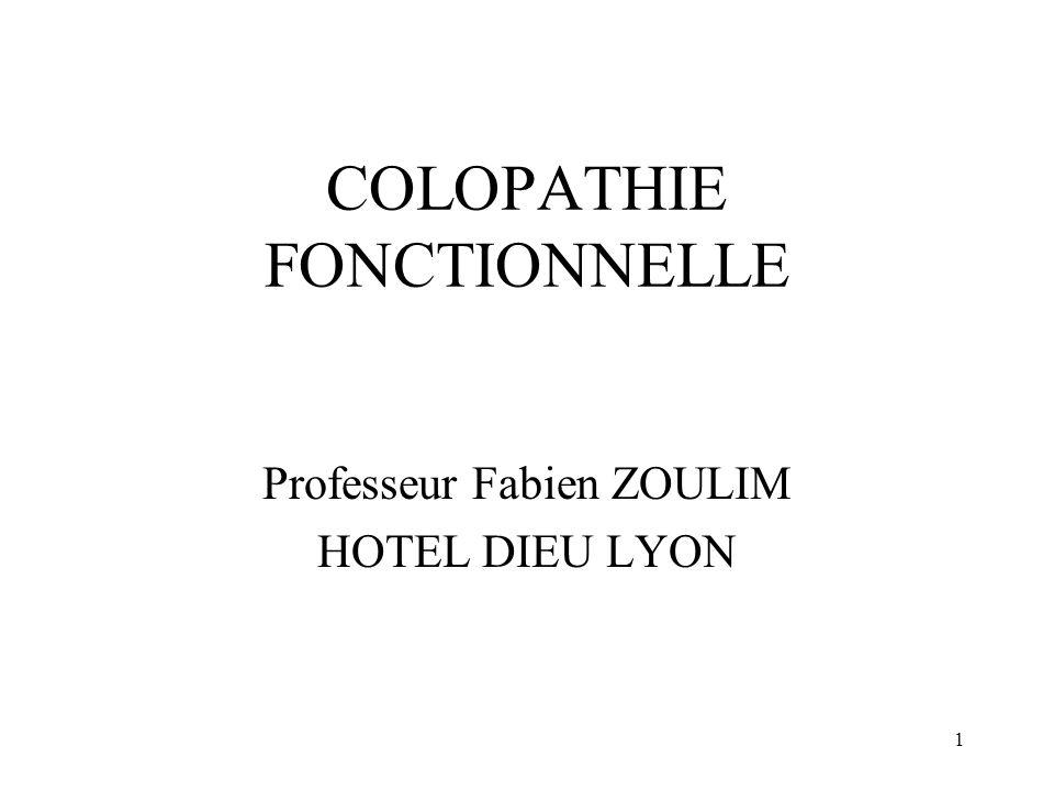 COLOPATHIE FONCTIONNELLE