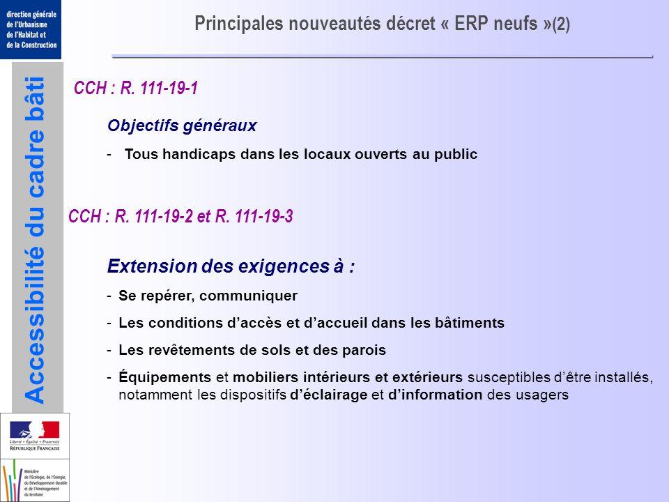 Principales nouveautés décret « ERP neufs »(2)