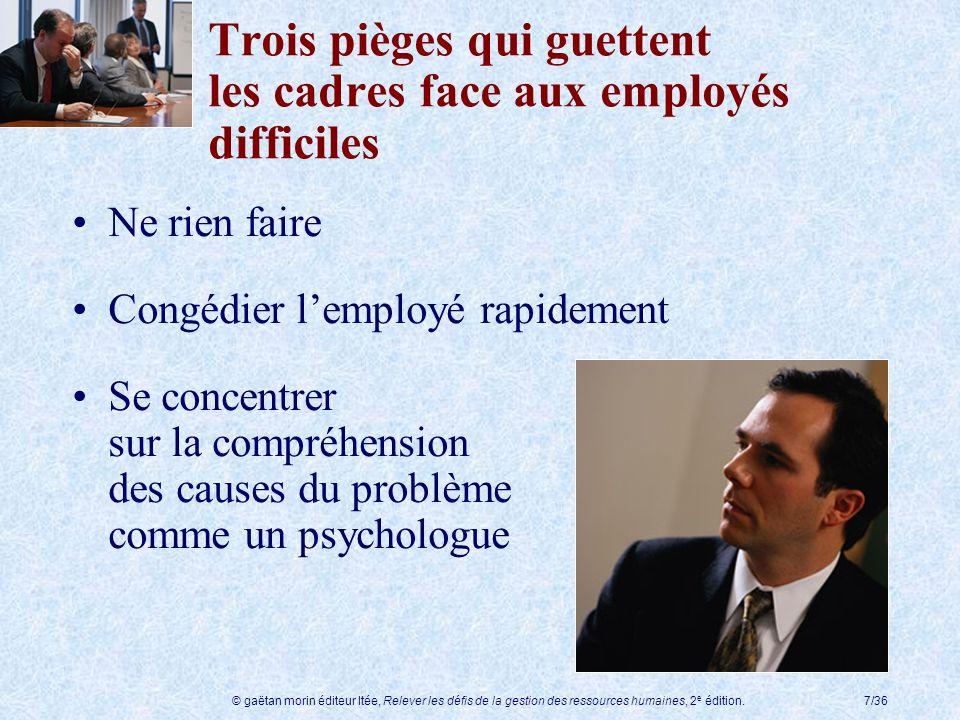 Trois pièges qui guettent les cadres face aux employés difficiles
