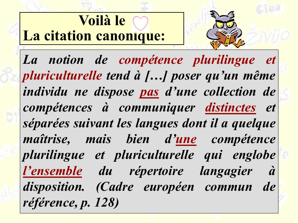 La citation canonique: