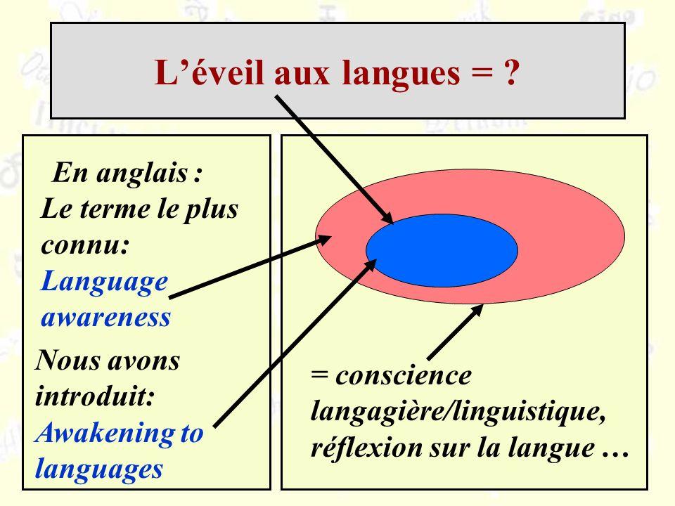 L'éveil aux langues = En anglais :