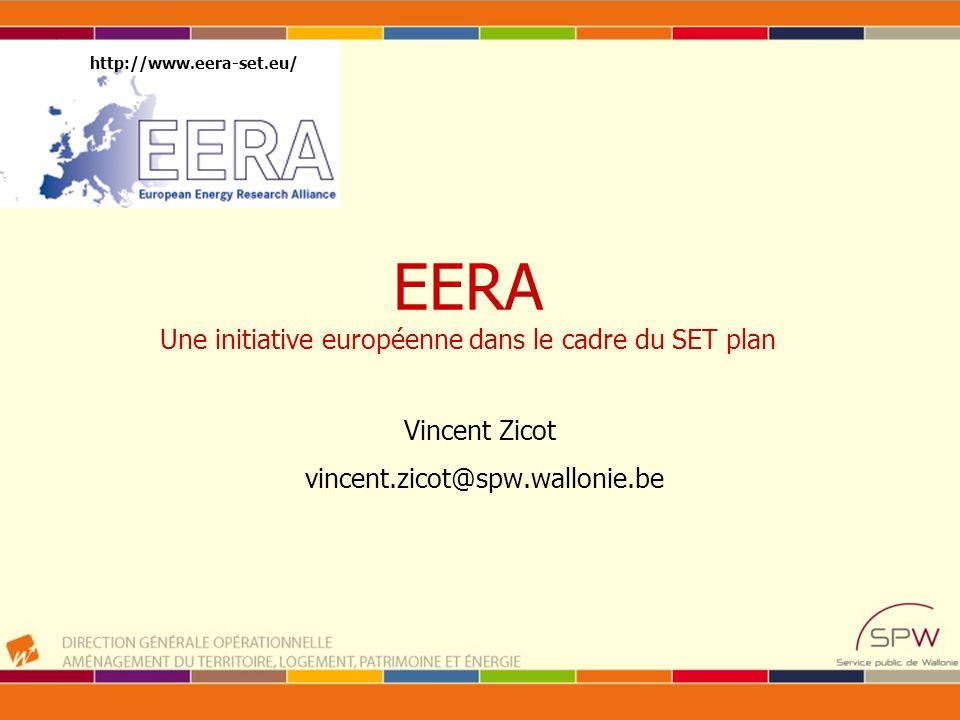 EERA Une initiative européenne dans le cadre du SET plan