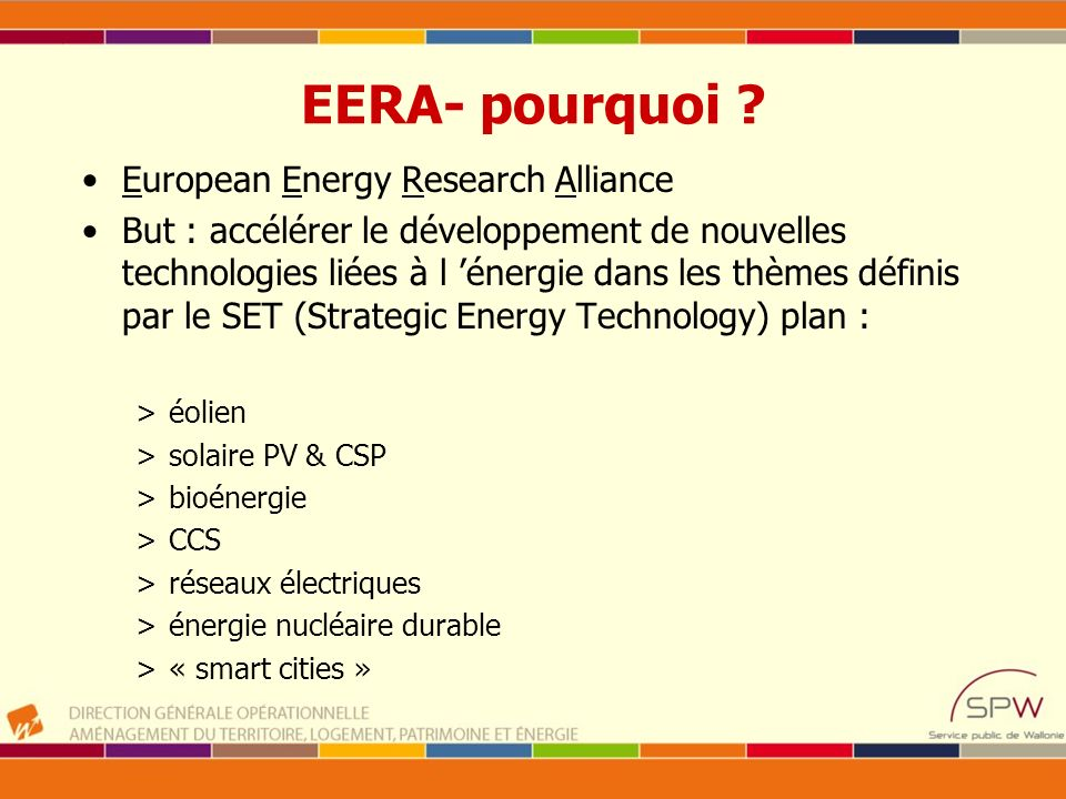 EERA- pourquoi European Energy Research Alliance