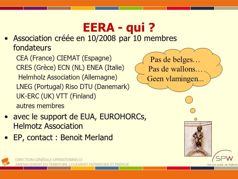 EERA - qui Association créée en 10/2008 par 10 membres fondateurs
