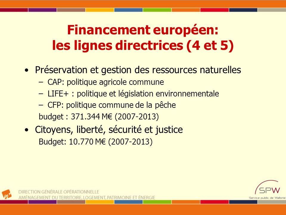 Financement européen: les lignes directrices (4 et 5)