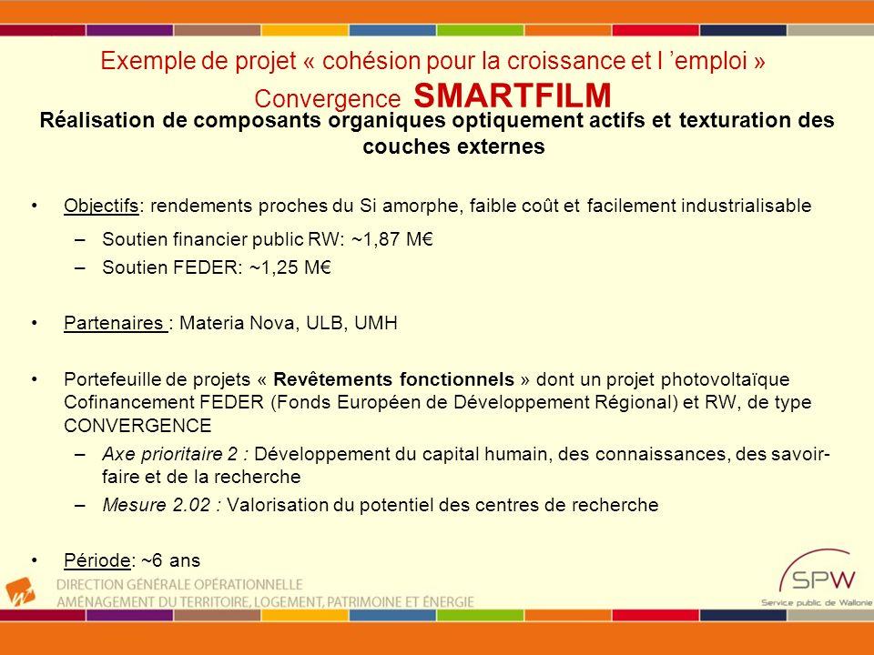 Exemple de projet « cohésion pour la croissance et l 'emploi » Convergence SMARTFILM