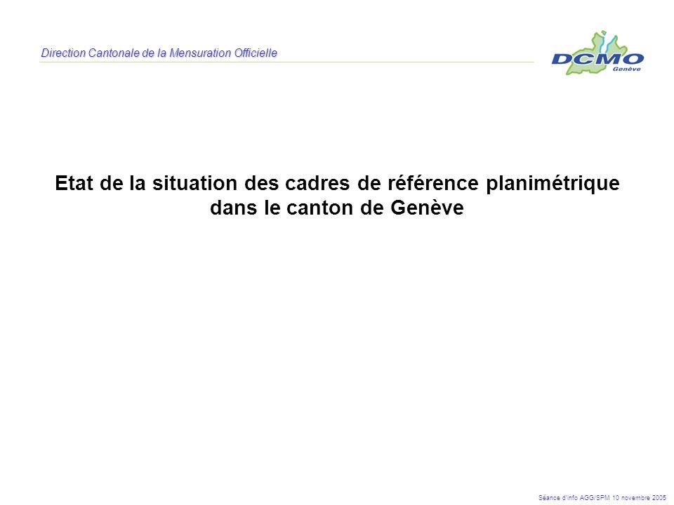 Etat de la situation des cadres de référence planimétrique