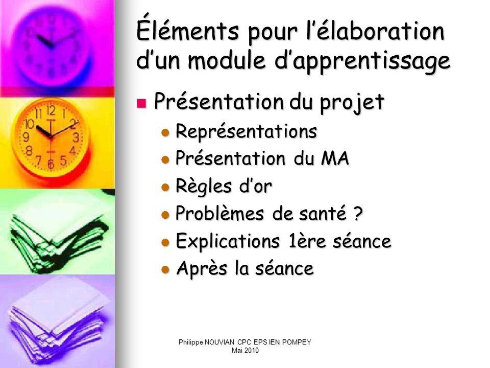 Éléments pour l'élaboration d'un module d'apprentissage