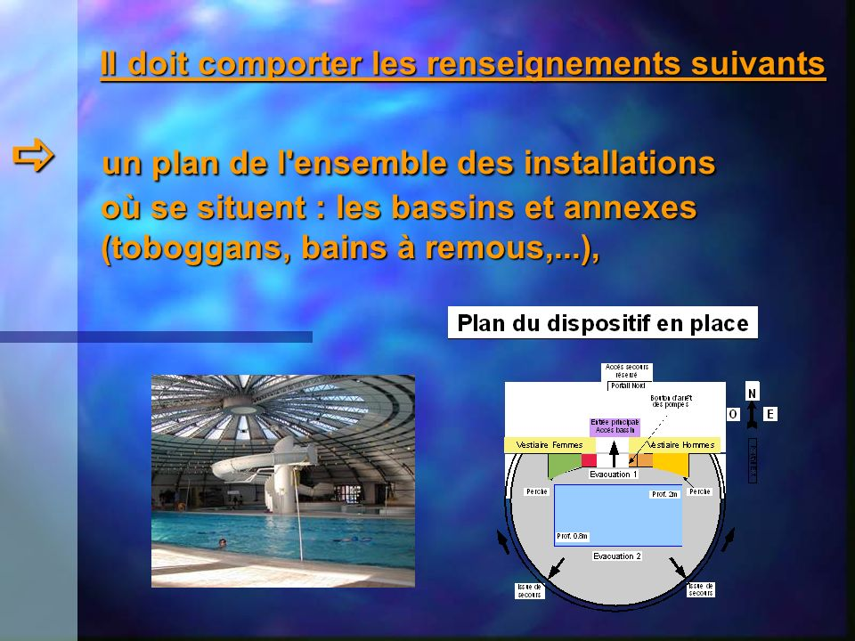  un plan de l ensemble des installations