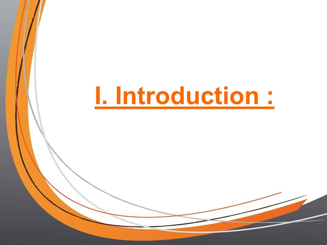 I. Introduction : 4