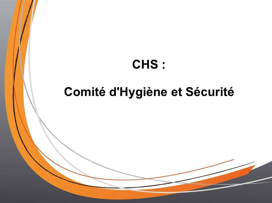 Comité d Hygiène et Sécurité