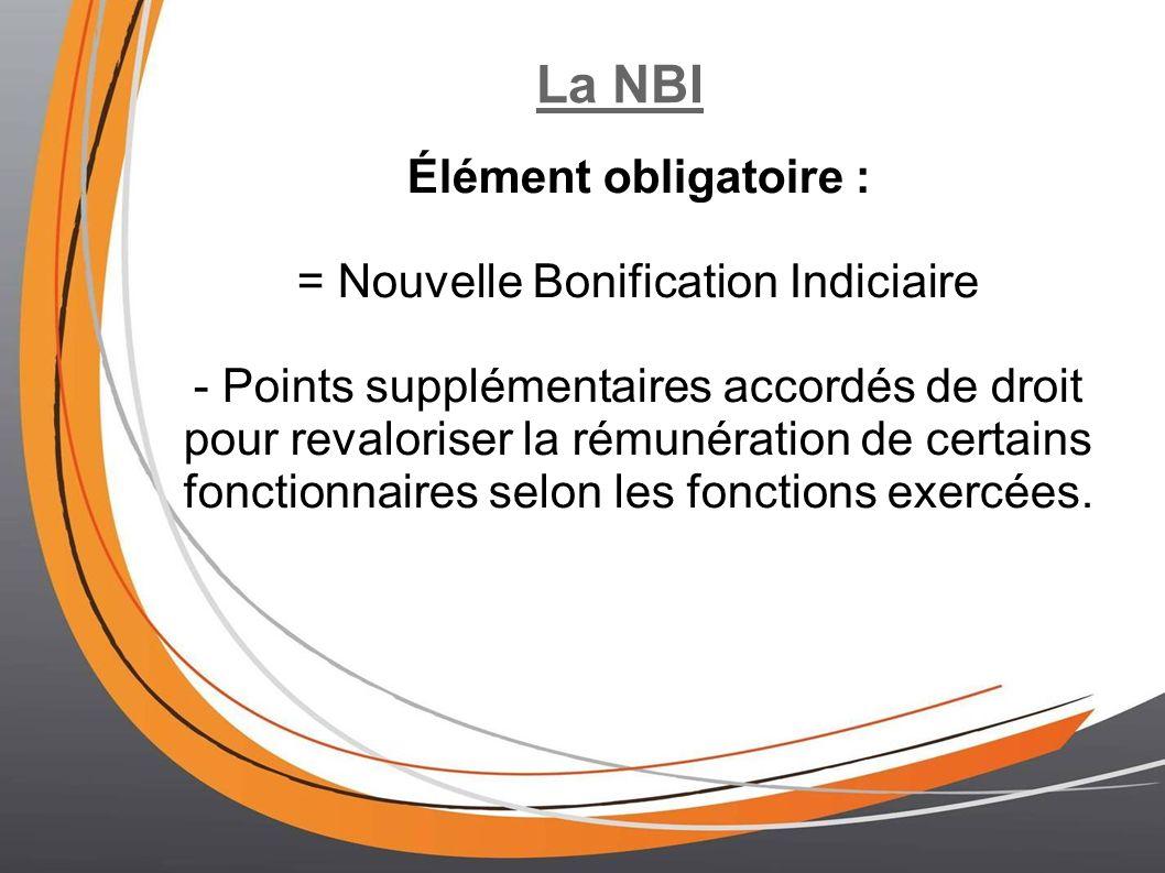 = Nouvelle Bonification Indiciaire