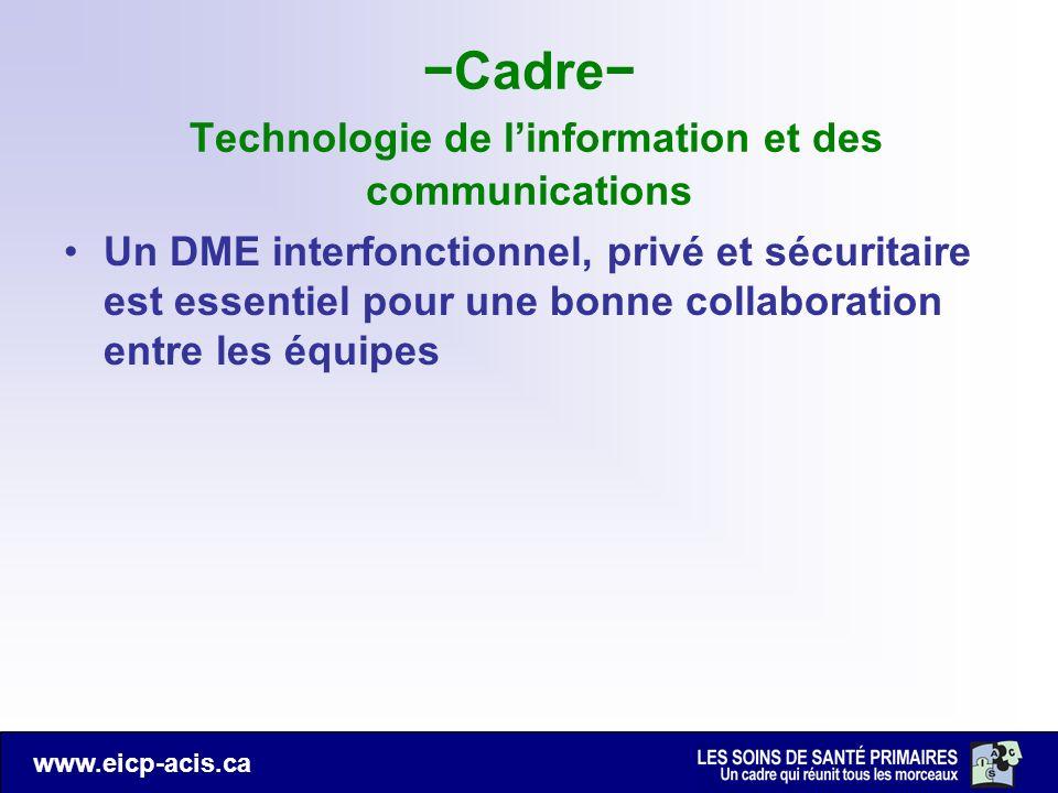 −Cadre− Technologie de l'information et des communications