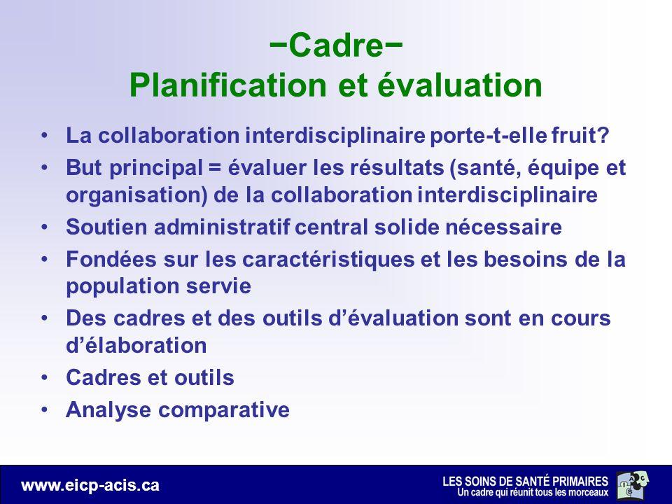 −Cadre− Planification et évaluation