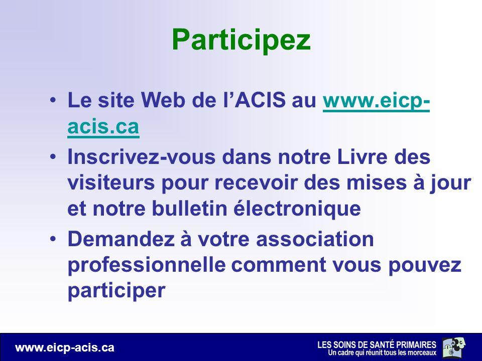 Participez Le site Web de l'ACIS au www.eicp-acis.ca