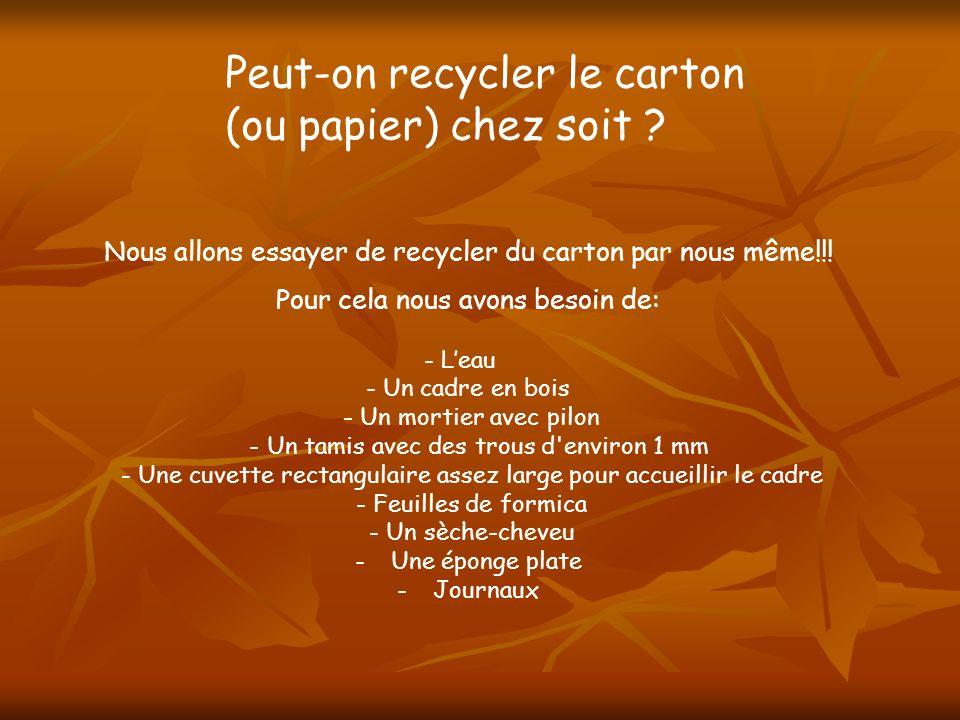 Peut-on recycler le carton (ou papier) chez soit