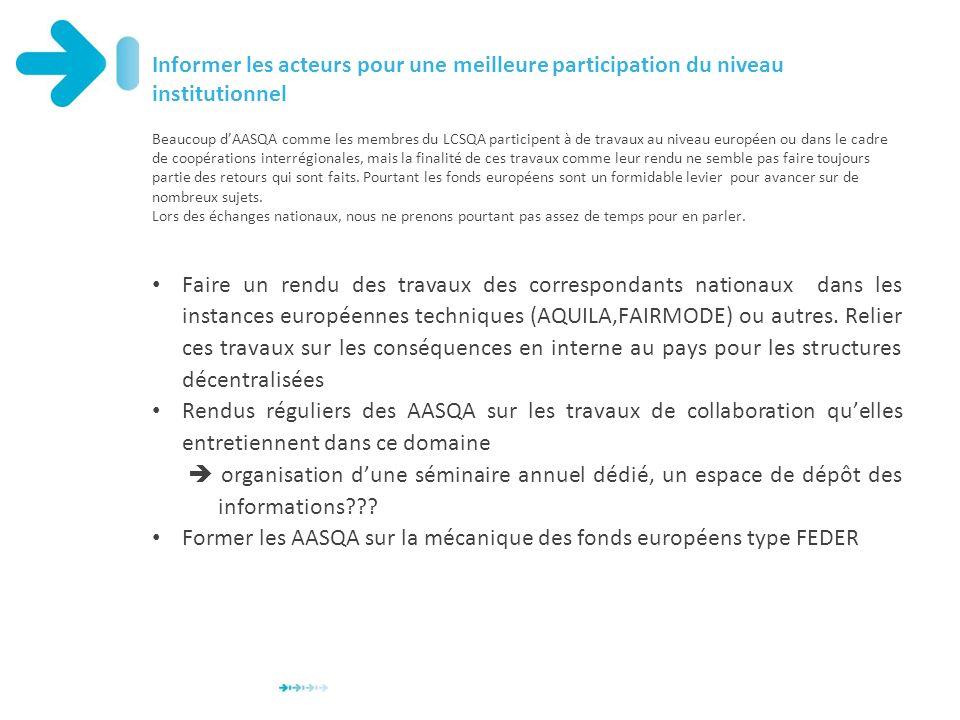 Former les AASQA sur la mécanique des fonds européens type FEDER