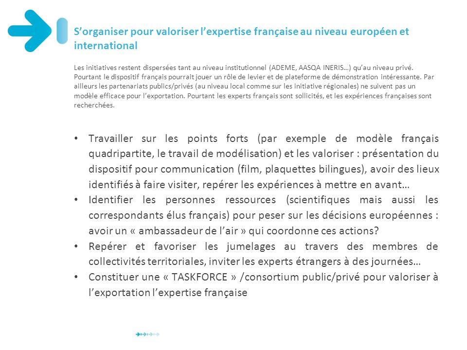 S'organiser pour valoriser l'expertise française au niveau européen et international