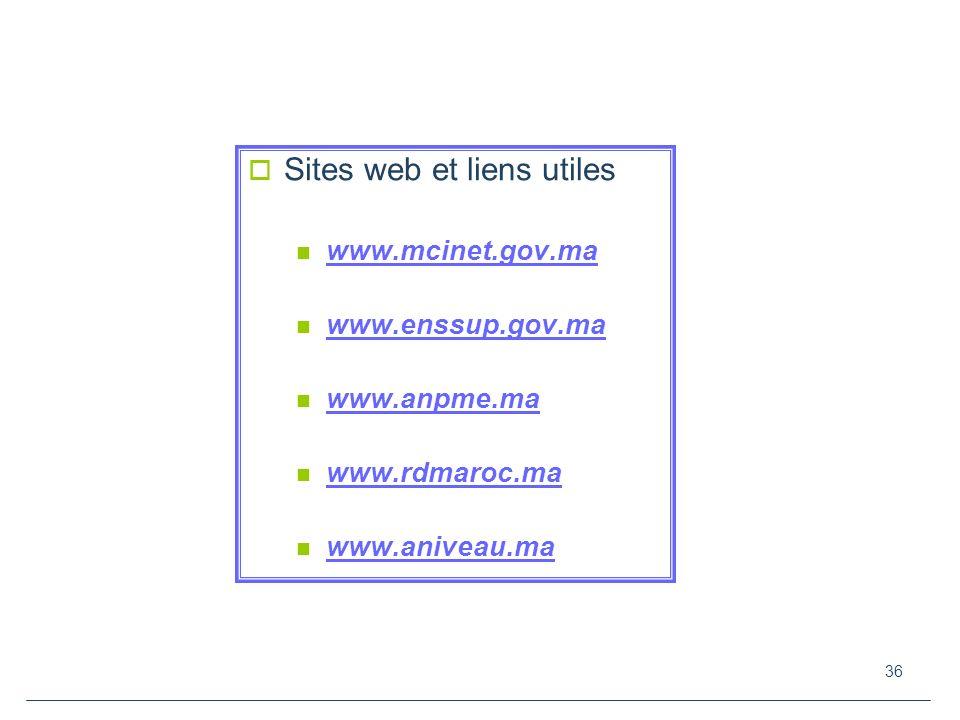 Sites web et liens utiles