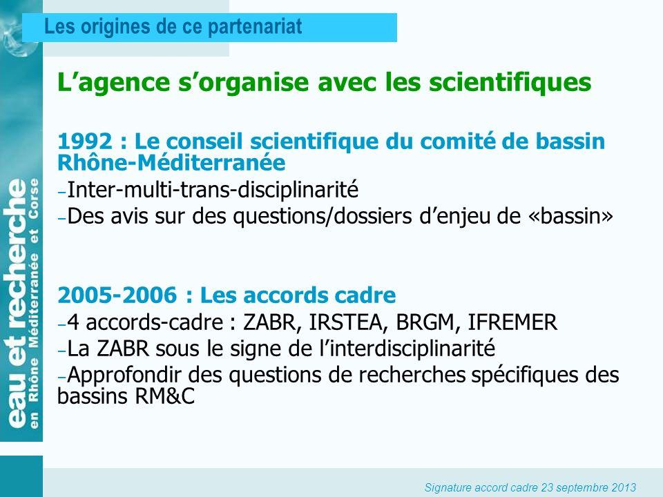 L'agence s'organise avec les scientifiques
