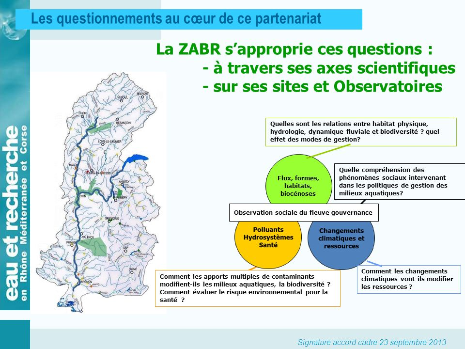 Observation sociale du fleuve gouvernance