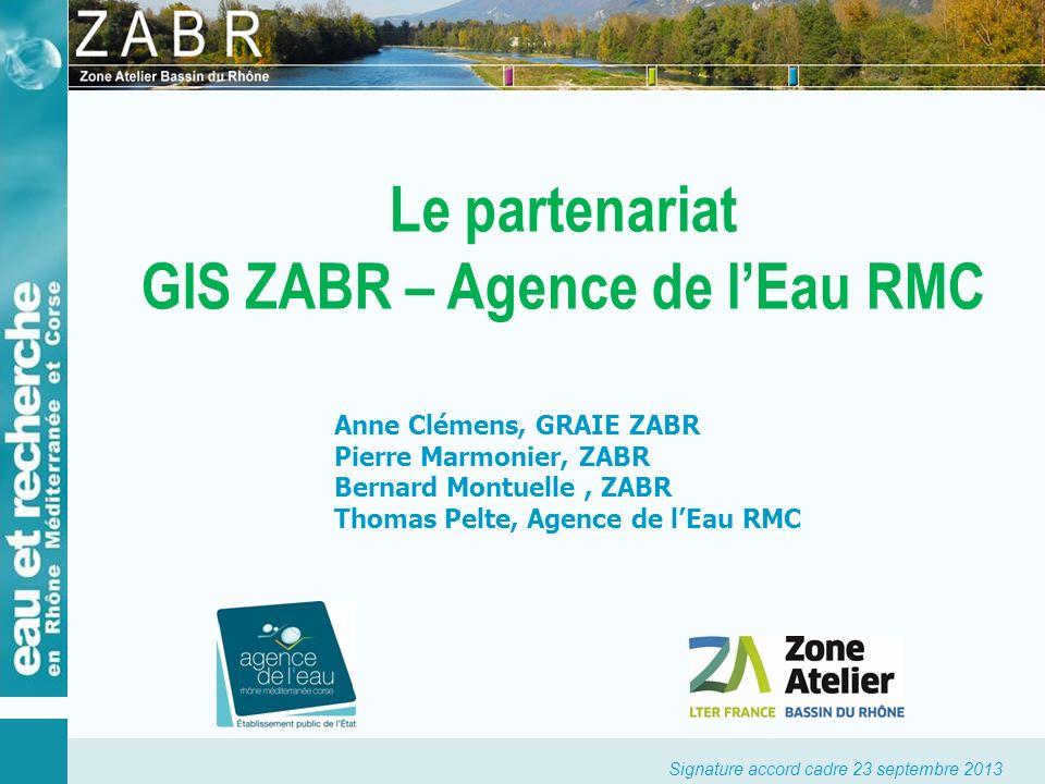 Le partenariat GIS ZABR – Agence de l'Eau RMC