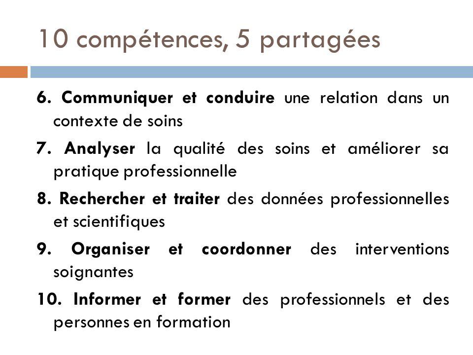 10 compétences, 5 partagées