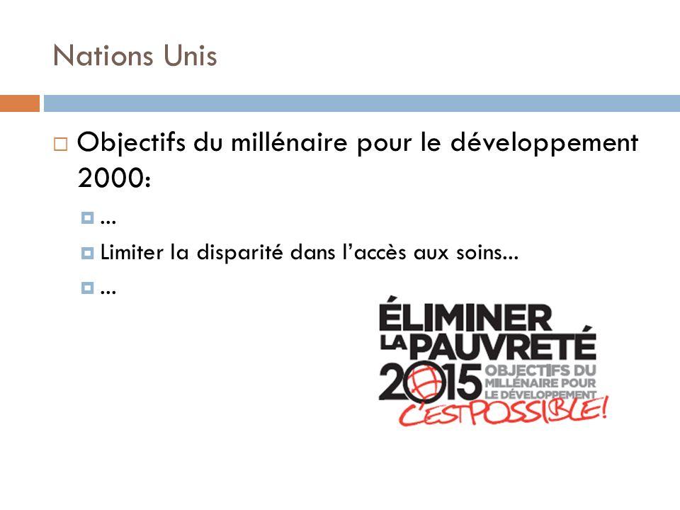 Nations Unis Objectifs du millénaire pour le développement 2000: ...