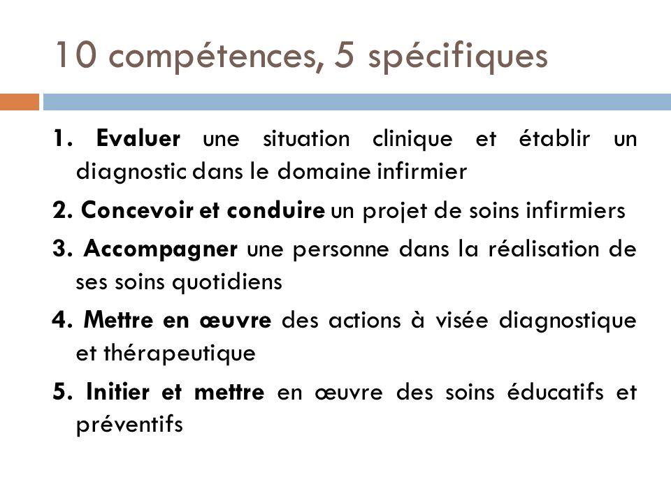 10 compétences, 5 spécifiques