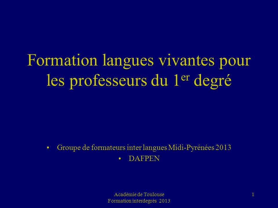 Formation langues vivantes pour les professeurs du 1er degré