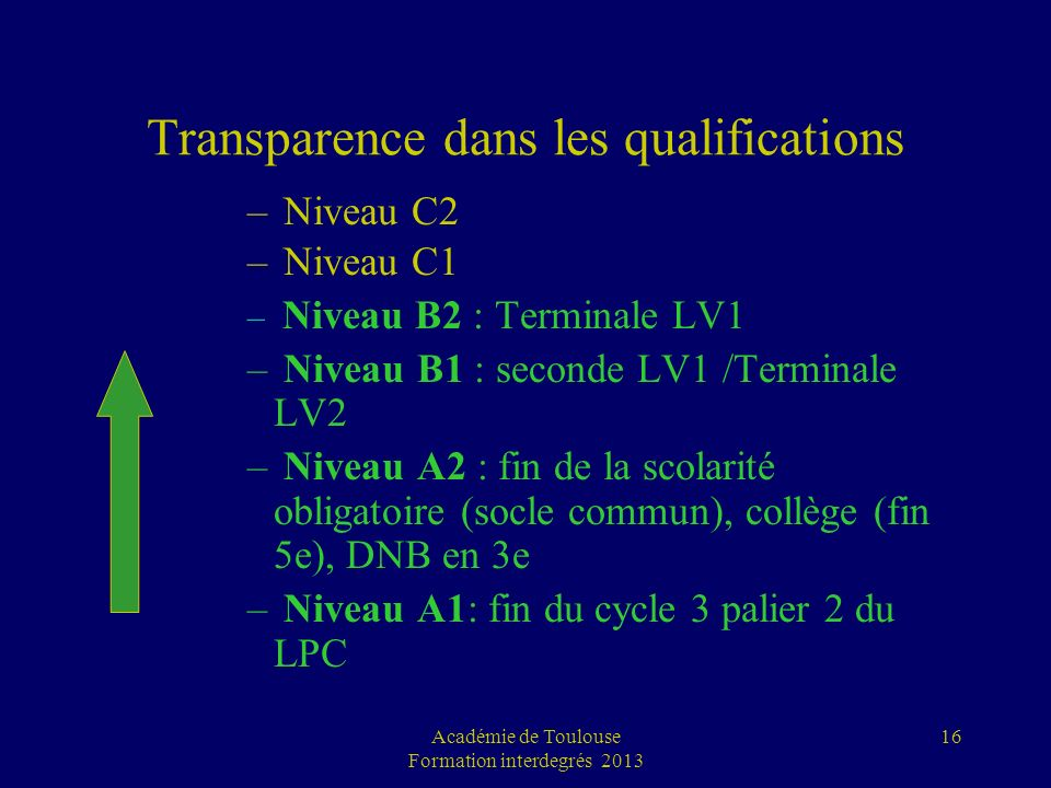 Transparence dans les qualifications