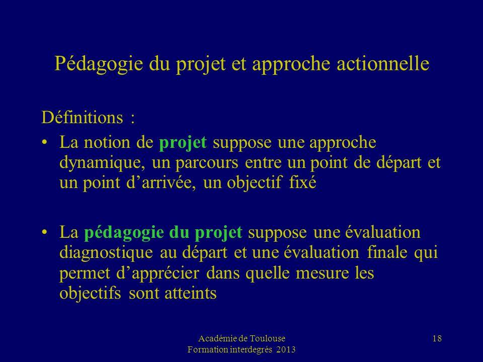 Pédagogie du projet et approche actionnelle