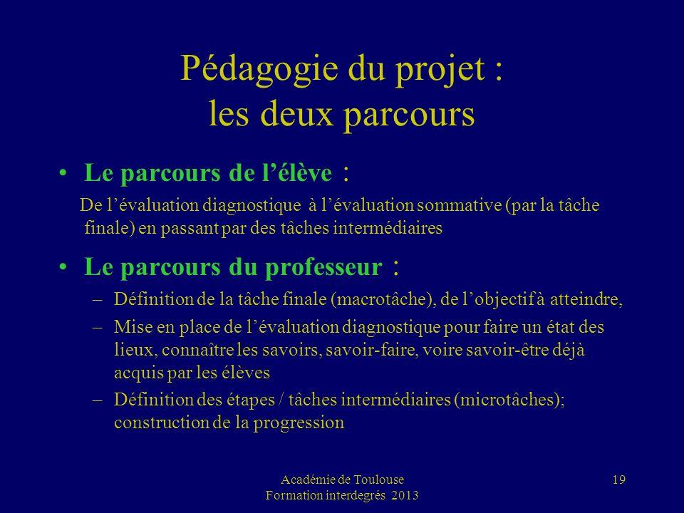 Pédagogie du projet : les deux parcours