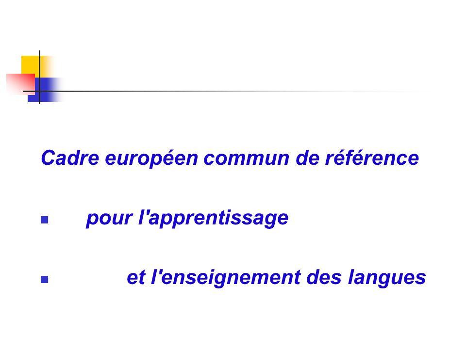 Cadre européen commun de référence