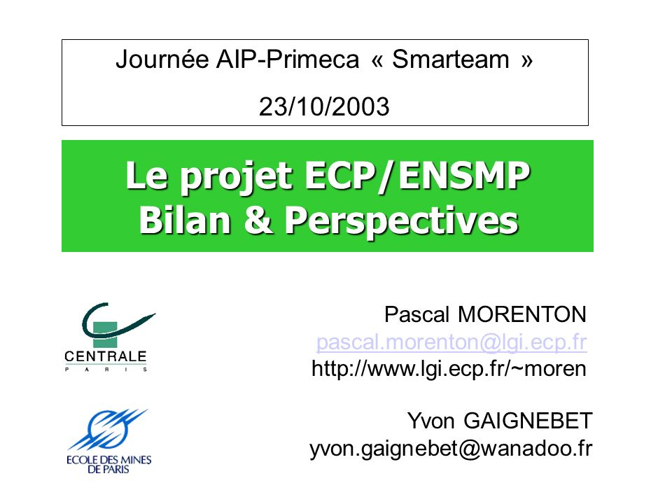 Journée AIP-Primeca « Smarteam »