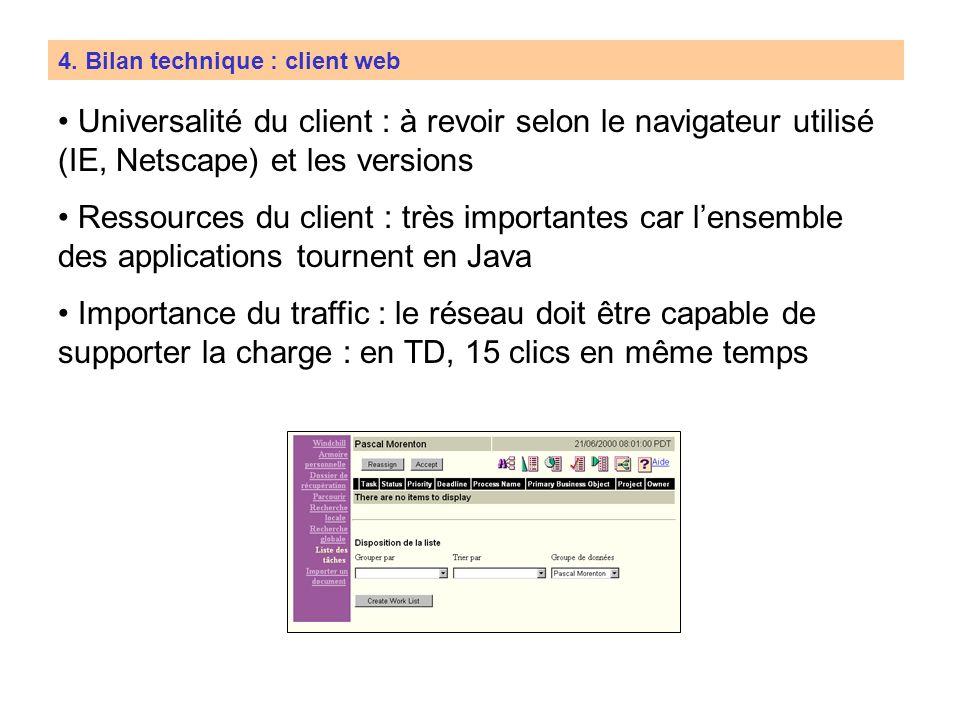 4. Bilan technique : client web